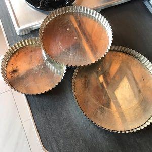3 French Quiche / Pie / Tart Baking Dishes Bundle